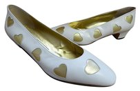 Bruno Magli B Vintage White Pumps