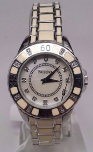 Bulova Bulova Diamond Case Steel Bracelet Watch