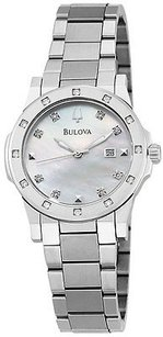 Bulova Bulova Stainless Steel Diamond Ladies Watch 96r124