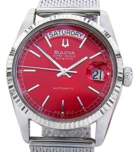 Bulova Bulova Super Seville Swiss Made Day Date Stainless Steel Automatic Watch J811