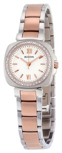 Bulova Bulova White Dial Diamond Two-tone Ladies Watch 98R206