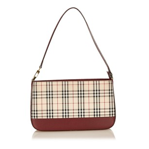 Burberry Beige Brown Fabric Shoulder Bag