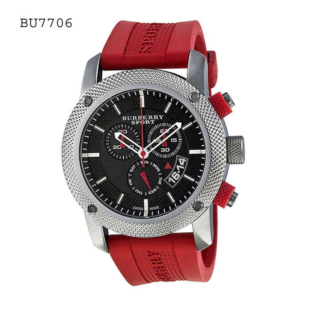 burberry sale outlet uk ge17  Burberry Brand New Burberry Sport Chronograph Black Dial Men's Watch BU7706
