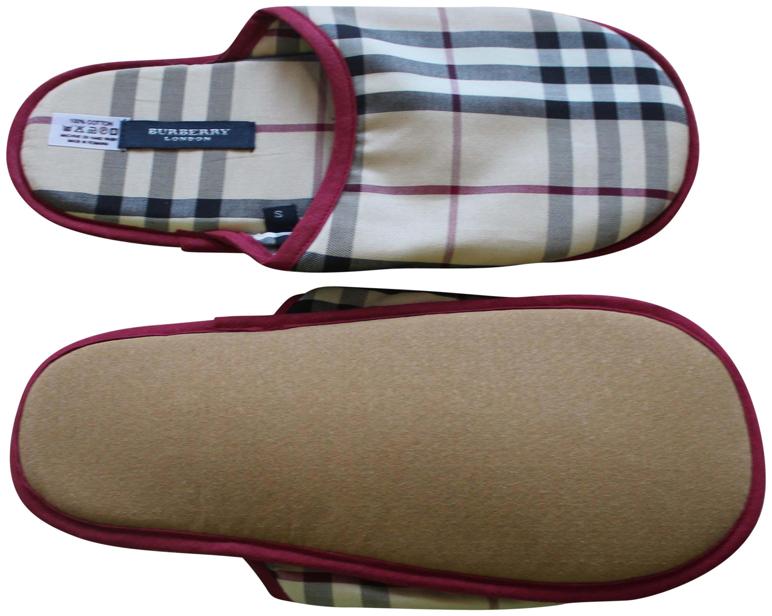 Burberry Nova Check Round-Toe Slippers outlet 2014 newest free shipping best sale discount footlocker sale wholesale price cheap 2014 C0JbMJ