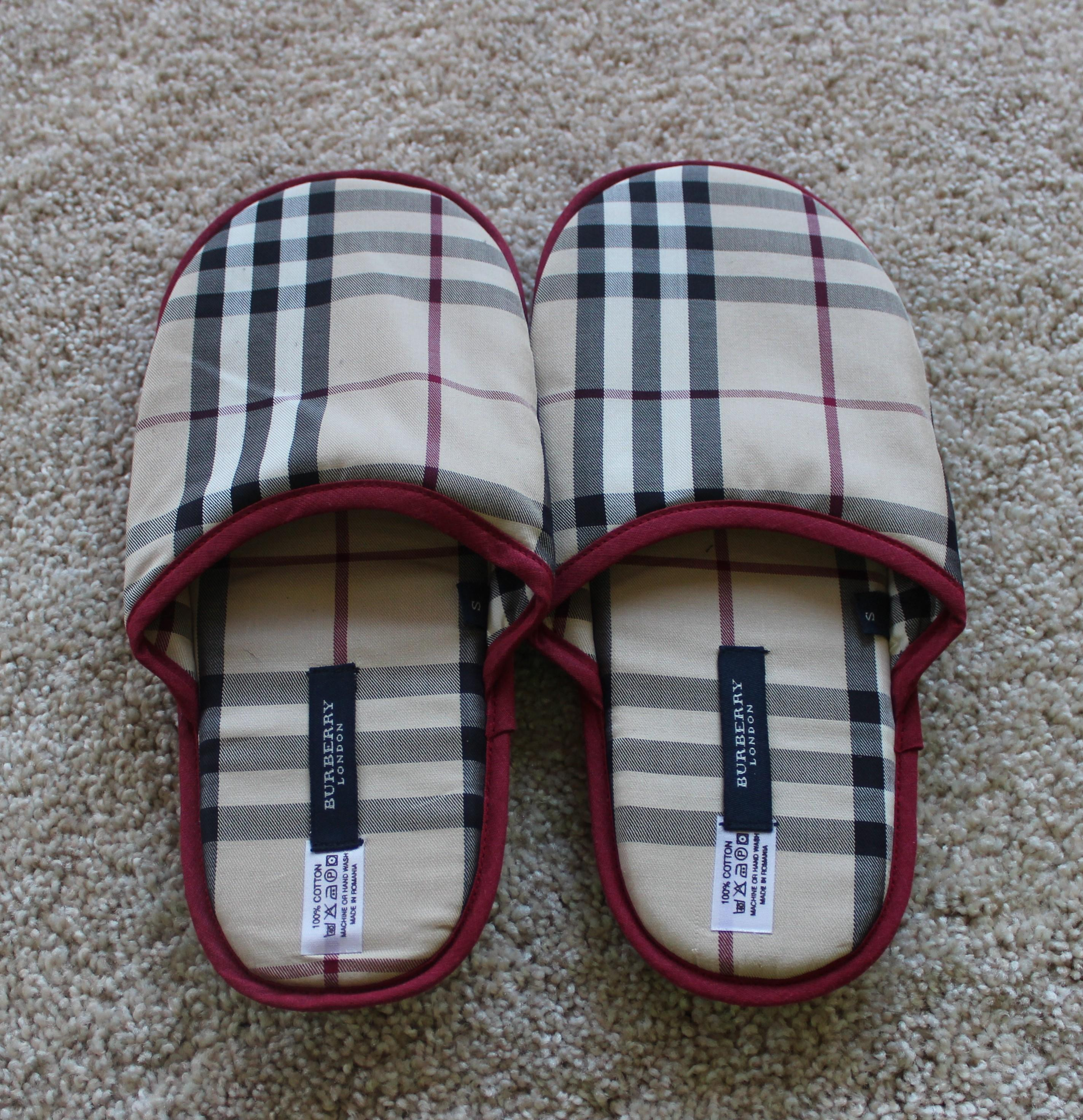 authentic Burberry Nova Check Round-Toe Slippers cheap sale best store to get tumblr sale online A1AbZxC6J