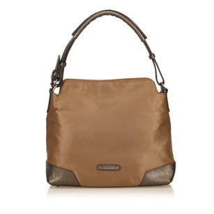 Burberry Brown Fabric Leather Shoulder Bag