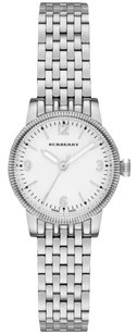 Burberry BU7856 The Utilitarian Silver Stainless White Dial Womens Watch