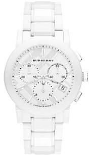 Burberry BU9080 Authentic Burberry White Ceramic Chronograph Unisex Watch