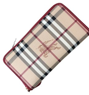 Burberry Burberry Check Wallet Red Trim Zingy