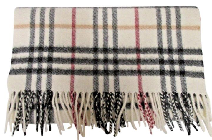burberry classic print scarf w fringe made in
