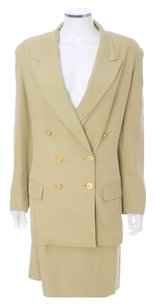 Burberry Burberrys Womens Silk Skirt Suit Blazer