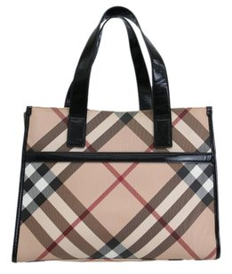 Burberry Leather / PVC Diaper Bag