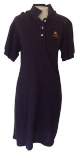 Burberry short dress Navy blue on Tradesy