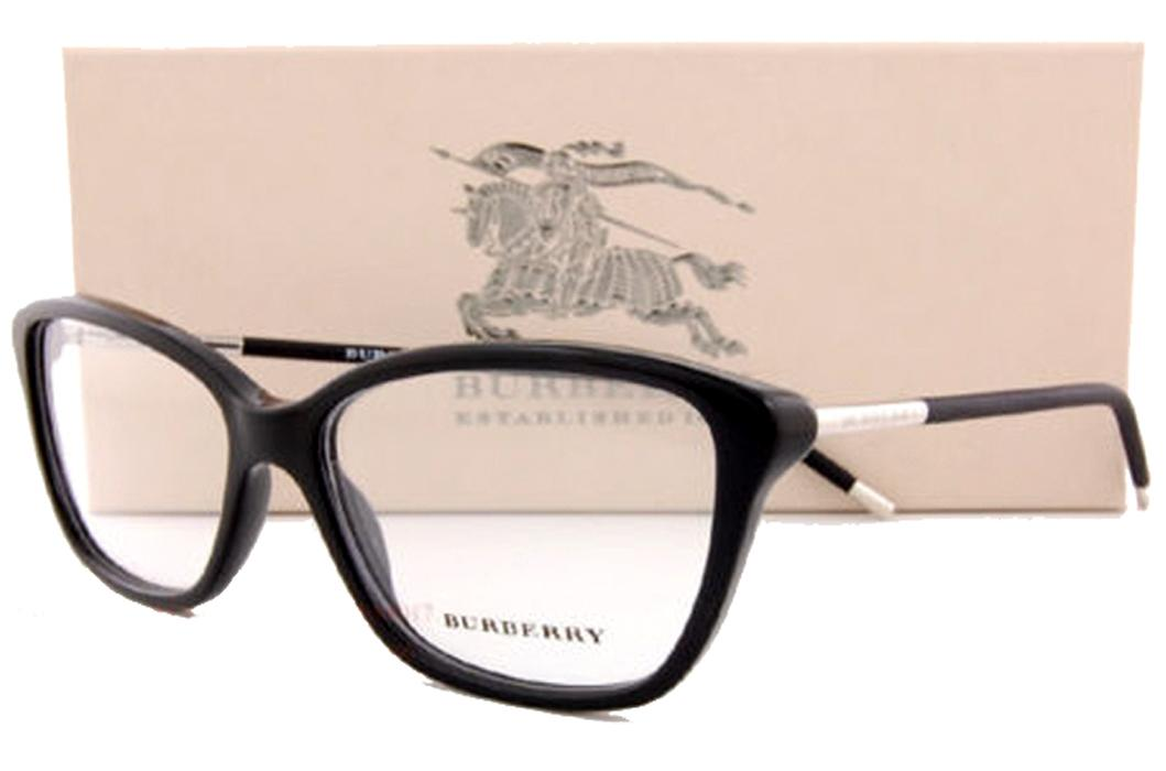 burberry sunglasses men ijfb  Burberry Eyeglass Frames BE 2170 3001 Black For Women Size 54 Men