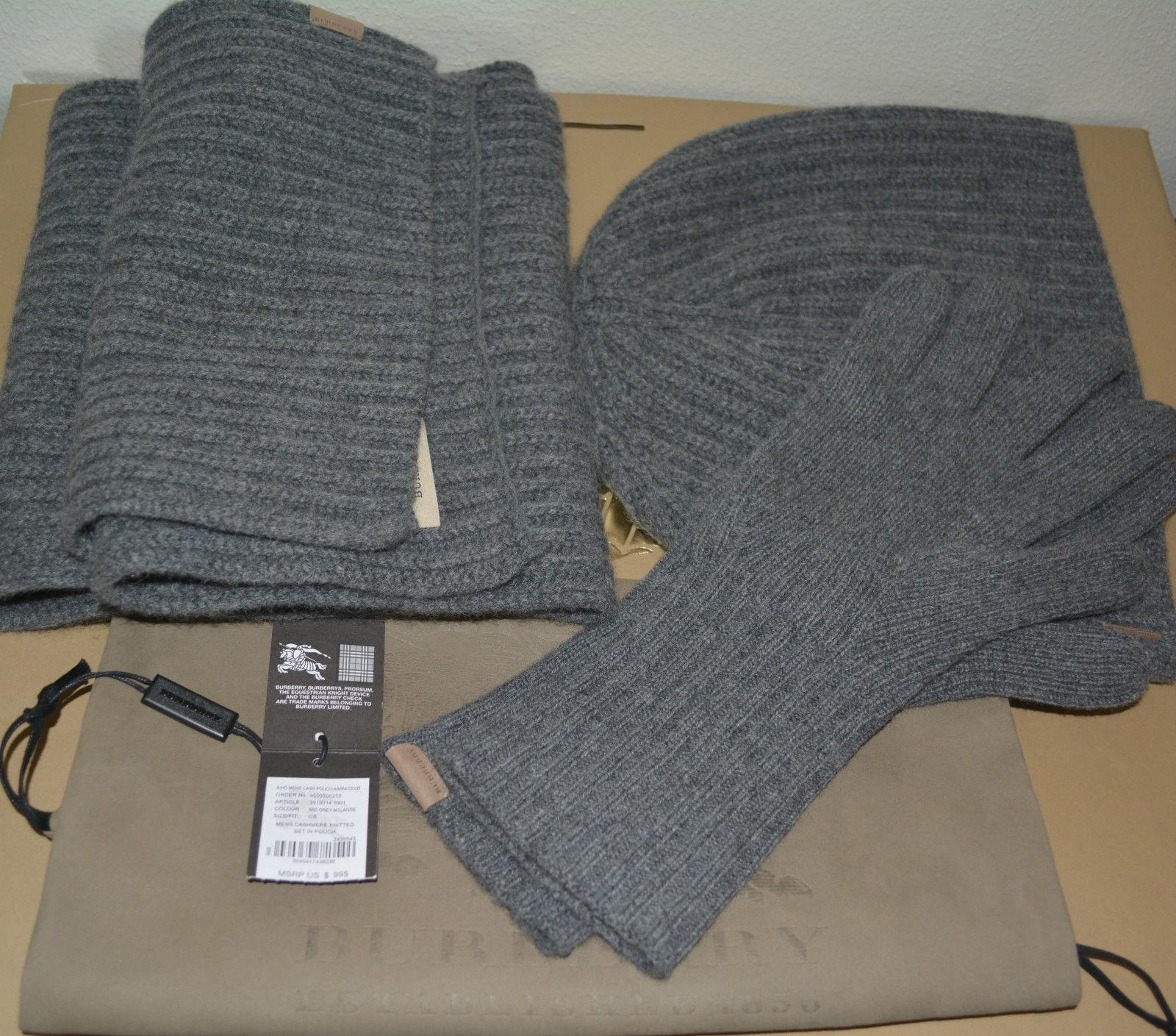105e35827d1 discount code for burberry grey cashmere gloves set in pouch scarf wrap  tradesy e8ed6 9f098