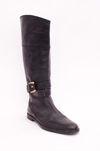 Burberry Leather Ankle Black Boots