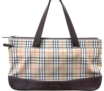 Preload https://item1.tradesy.com/images/burberry-leather-plaid-handbag-brown-and-multicolored-canvas-tote-23888020-0-3.jpg?width=440&height=440