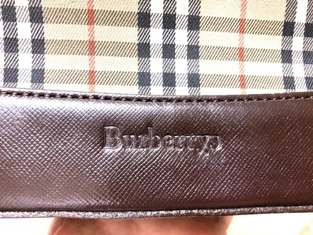 Burberry Lv Shoulder Leather Gucci Tote in Brown and multicolored