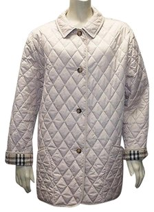 Burberry London Light Diamond Quilted Nova Check Fit R Hs745 Coat