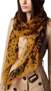 Burberry New Animal Print Silk Scarf