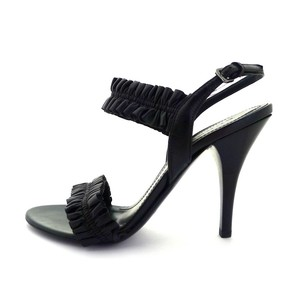 Burberry New Leather Black Sandals