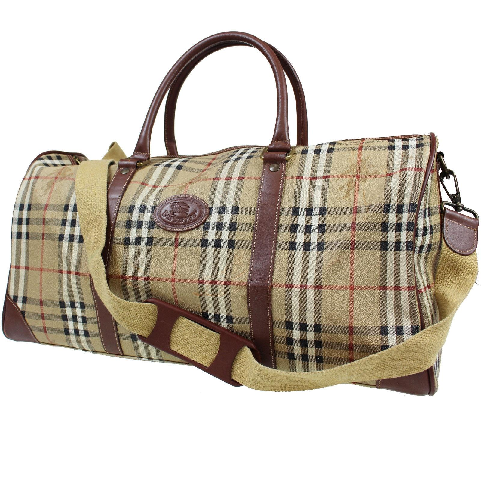 Burberry nova check boston hand italy beige brown leather weekend jpg  960x960 Burberry boston 3d0fda8951ce3
