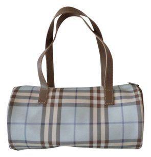 Burberry Nova Check Vintage Signature Tote in Blue Plaid