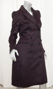 Burberry Prorsum Womens Classic Dark Alpaca Wool Jacket 382 Coat