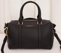 Burberry Prorsum Pebble Satchel in Black
