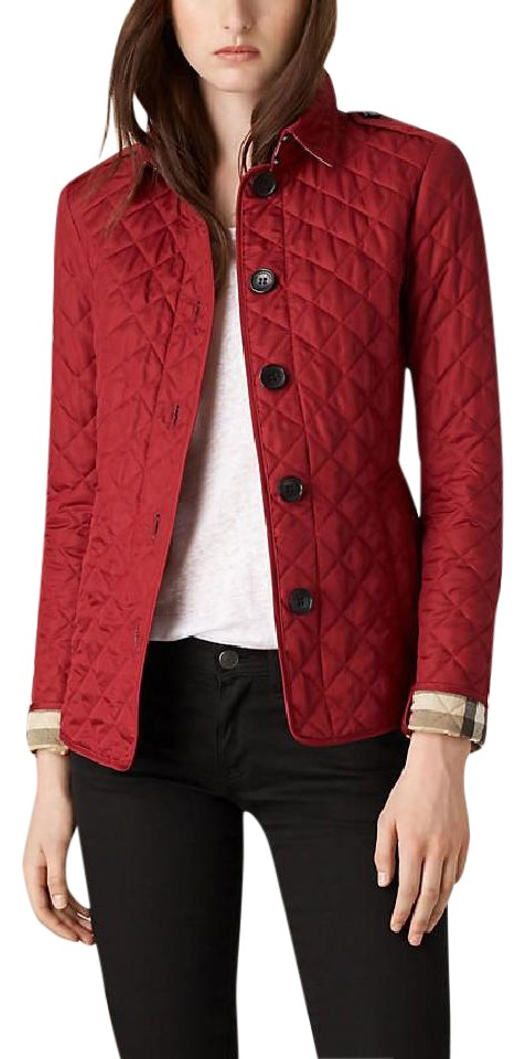 burberry cheap outlet e4zc  red burberry jacket