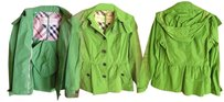 Burberry Leaf Green Jacket