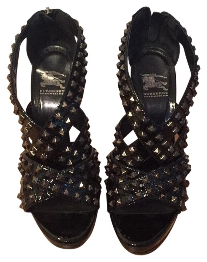 Burberry studded platform
