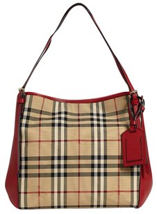 Burberry Tote in Camel & Red