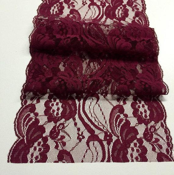 Burgundy Lace Table Runners Tablecloth ...