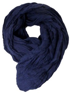 BAB Women Men Solid Color Lightweight Crinkle Scarf Stole