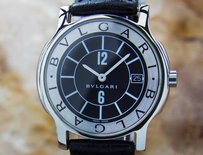 BVLGARI Bulgari St35s Luxury Mens Swiss Solotempo Quartz Stainless Steel Watch K3