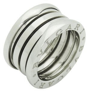 BVLGARI BVLGARI B ZERO 18K 750 WHITE GOLD 3-BAND RING SIZE 4 EUR 46, Made in Italy