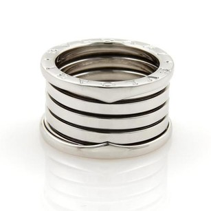 BVLGARI Bvlgari Bulgari B Zero-1 13mm 18k White Gold Band Ring Eu 52-us