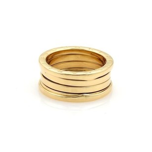 BVLGARI Bvlgari Bulgari B Zero-1 18k Yellow Gold 10mm Wide Band Ring 56-us