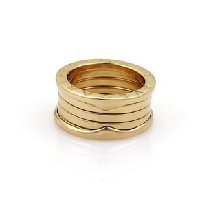 BVLGARI Bvlgari B Zero-1 18k Yellow Gold 11mm Wide Band Ring Eu 54-us 6.75