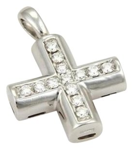 BVLGARI Bulgari Bvlgari 18k White Gold Diamonds Cross Pendant