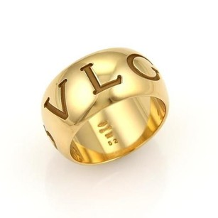 BVLGARI Bvlgari Monologo 18k Yellow Gold Wide Band Ring -