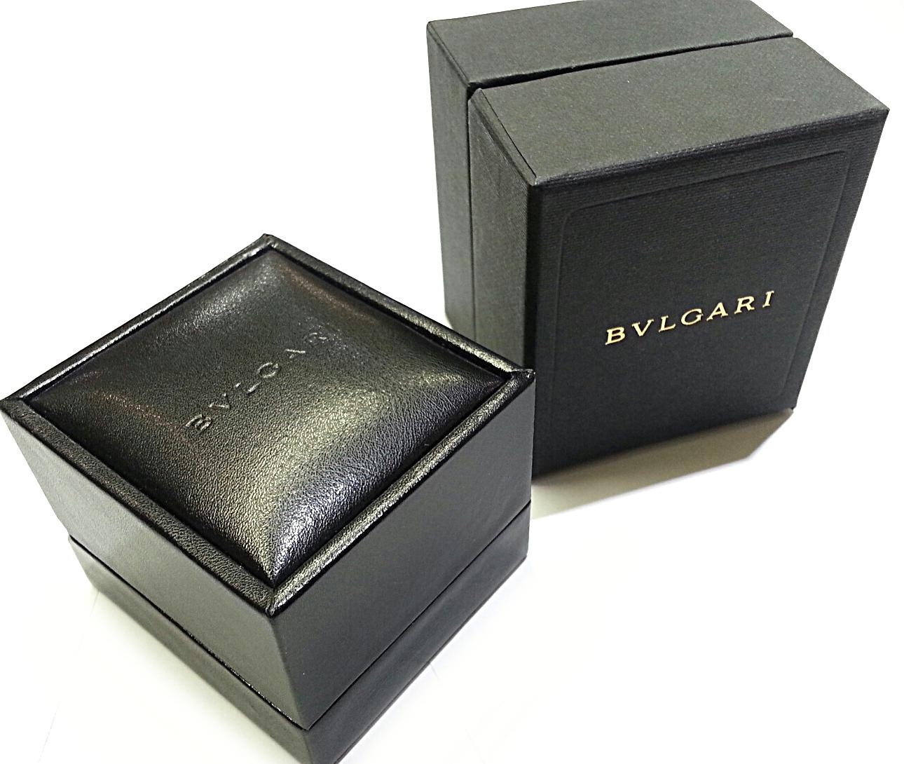 BVLGARI Leather Ring Box with Spring Loaded Holder Tradesy