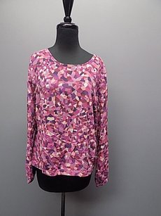 CAbi Round Neck Top Pink And Purple