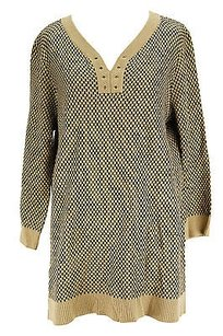 Cable & Gauge Good Checkered Sweater