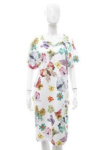 Cacharel short dress White Rorschach Print Cotton Knit V Neck Dolman Sleeve on Tradesy