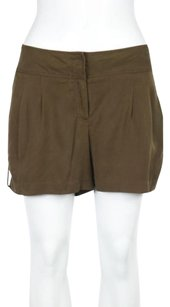 Cache Womens Solid Wear To Work Dress Shorts Brown