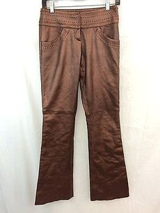Cache Lambskin Leather Pants