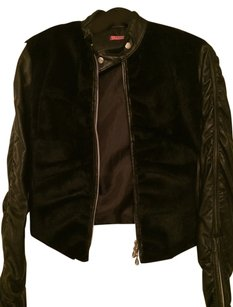 Caipirinha Italian Leather Fur black Leather Jacket