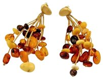 Calgaro Calgaro Amber Multi-strand Drop Dangle Earrings In 18k Yellow Gold
